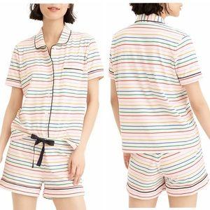 Jcrew Dreamy Rainbow Stripe PJ Set